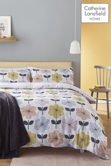 Catherine Lansfield Retro Floral Easy Care Bed Set
