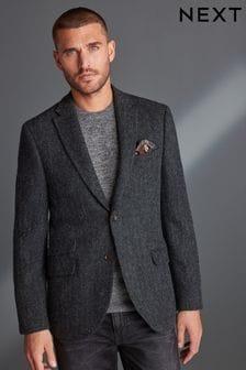 Signature Harris Tweed Herringbone Tailored Fit Jacket
