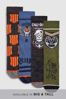 Of Duty Pattern Socks Four Pack