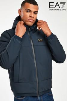 EA7 Navy Hooded Jacket