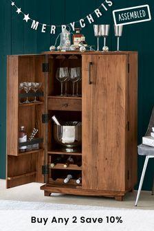 Amsterdam Acacia Wood Drinks Cabinet