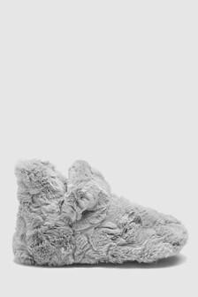 Faux Fur Turn Down Slipper Boots