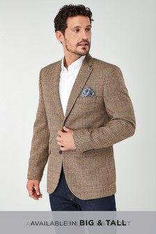 Signature Check Tailored Fit Blazer