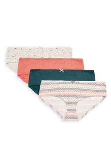 Cotton Knickers Four Pack