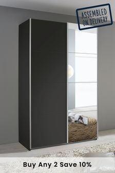 Cameron 1.36m Glass Sliding Wardrobe By Rauch