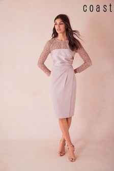 Coast Natural Lucy Lace Shift Dress
