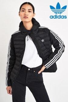 adidas Womens Nuvic Hooded Bomber Jacket BlackBlack