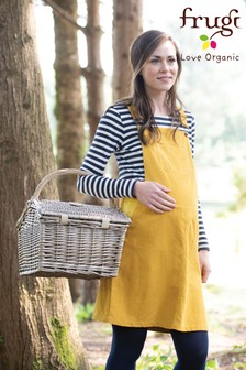 Frugi Organic Yellow Maternity Cord Pinafore