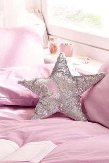 Sequin Swoosh Star Cushion