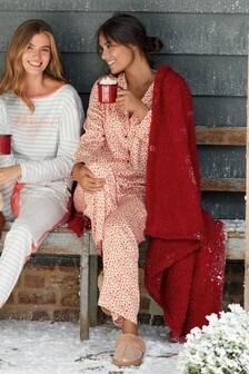 Button Through Satin Pyjamas