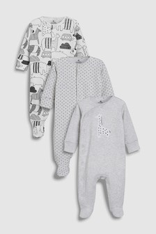 Giraffe Sleepsuits Three Pack (0mths-2yrs)