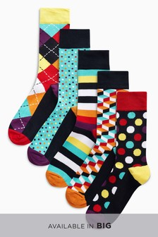 Geometric Socks Five Pack
