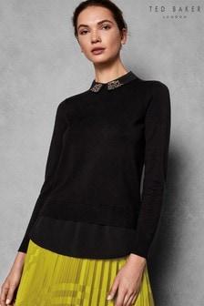 Ted Baker Black Embellished Sweater