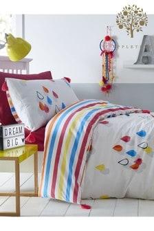 Appletree Raindrops Tassels Duvet Cover and Pillowcase Set