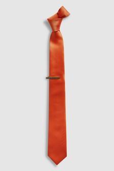 Tie And Tie Clip Set