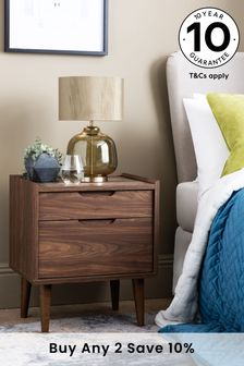 Oslo 2 Drawer Bedside Table