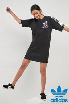 adidas Originals Black/Graphic Print Dress