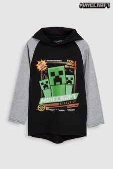 Minecraft Long Sleeve Hooded T-Shirt (4-14yrs)