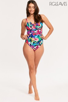 Figleaves Black Hawaii Underwired Bandeau Swimsuit