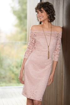 Lace Bodycon Bardot Dress