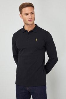 Long Sleeve Badge Poloshirt