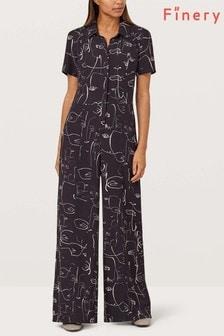 Finery London Alida Faces Print Jumpsuit