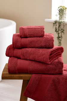 Berry Red Egyptian Cotton Towels