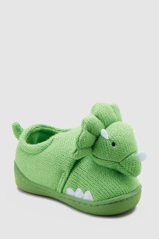 Knitted 3D Dinosaur Slippers (Younger)