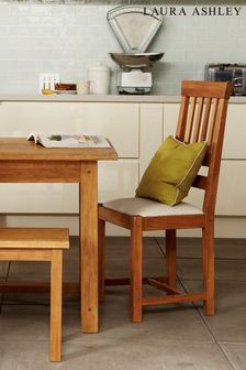 Milton Oak Pair Of Dining Chairs by Laura Ashley