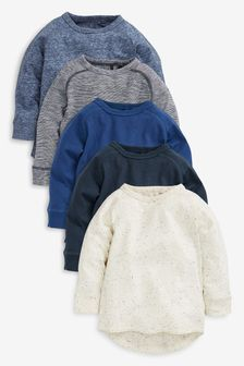 Long Sleeve T-Shirts Five Pack (3mths-7yrs)