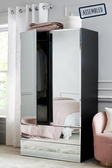 Sloane Mirrored Double Wardrobe with Drawers