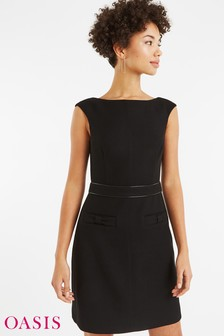 Oasis Black Bow Dress