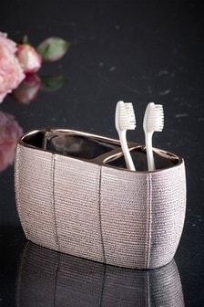 Textured Ceramic Toothbrush Tidy