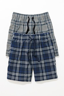 Check Cosy Pyjama Shorts Two Pack