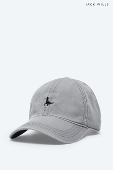 Jack Wills Grey Enfield Striped Pheasant Cap