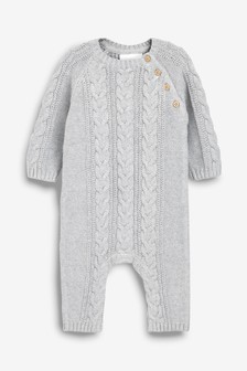 Cable Knit Romper (0mths-2yrs)