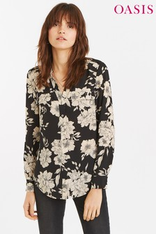 Oasis Black Bold Bloom Shirt