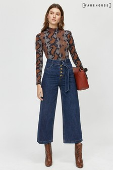 Warehouse Blue D-Ring Belted Jean