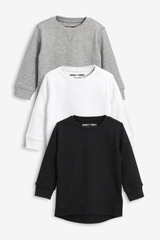 Textured Long Sleeve T-Shirts Three Pack (3mths-7yrs)