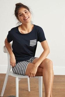 Stripe Cotton Blend Short Pyjamas