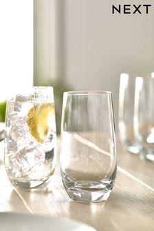 Set of 4 Crystal High Ball Glasses