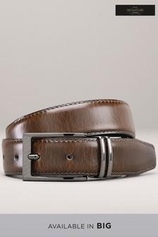 Reversible Leather Stitched Edge Belt