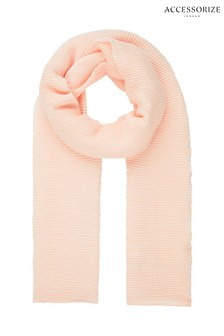 Accessorize Pink Glitter Pleated Scarf