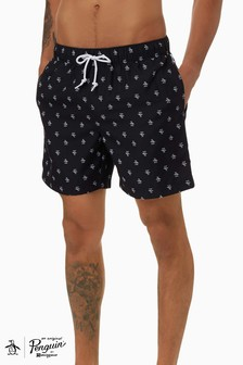 Original Penguin® Black Penguin Elastic Voll Trunks