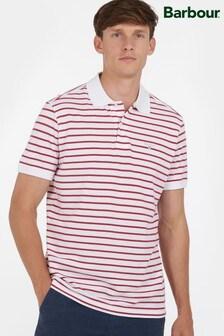 Barbour® White Styhead Stripe Polo Shirt
