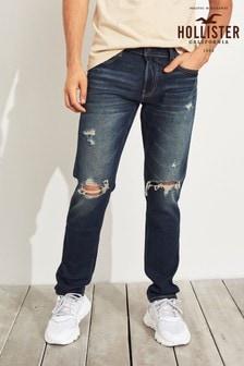 Hollister Dark Wash Ripped Skinny Jean