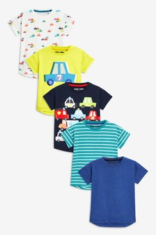 T-Shirts Five Pack (3mths-7yrs)