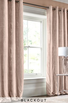 Crinkle Velvet Blackout Eyelet Curtains