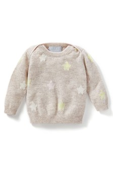 Pure Collection Natural Cashmere Baby Sweater