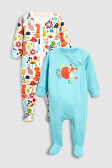 Crochet Fox Sleepsuits Two Pack (0mths-2yrs)